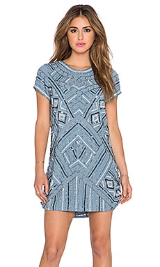 Parker Topaz Embellished Dress in Frost