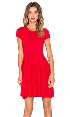 Meena Dress in Carmine