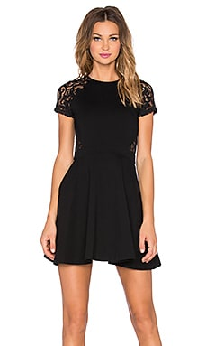 Parker Annabella Combo Dress in Black