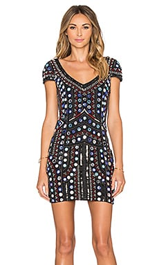 Parker Elijah Embellished Dress in Black