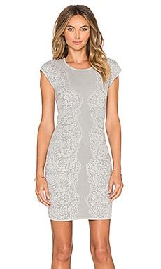 Parker Heartland Knit Dress in Soft Grey