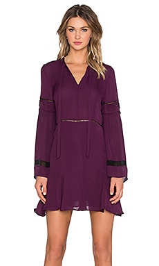 Parker Milly Combo Dress in Brandy