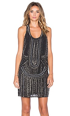 Parker Ramsey Embellished Dress in Black