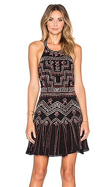 Parker Leona Sequin Dress in Black