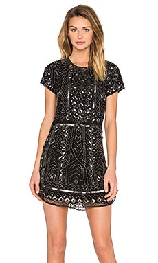 Parker Topaz Sequin Dress in Black