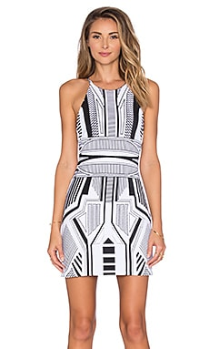Parker Medusa Dress in Black & White