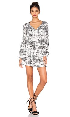 Maeve Dress in Black Graphic
