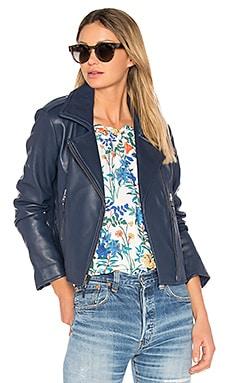 Easton Leather Jacket in Aquarius