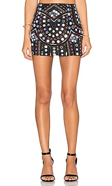 Parker Corsica Embellished Skirt in Black