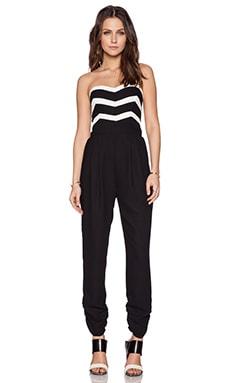 Parker Carmela Combo Jumpsuit in Black Pearl