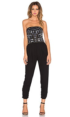 Parker Giovanna Embellished Jumpsuit in Black