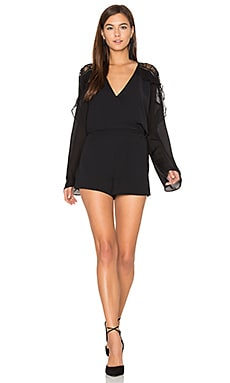 Amber Combo Romper in Black
