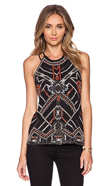 Parker Neil Sequin Top in Black