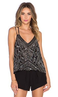Parker Knox Embellished Tank in Black