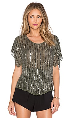 Parker Everest Embellished Top in Spruce