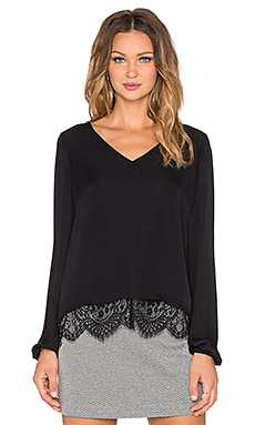 Parker Rosedale Combo Top in Black