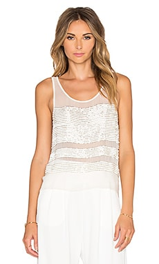 Parker Naples Sequin Top in Ivory
