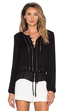 Periwinkle Blouse in Black