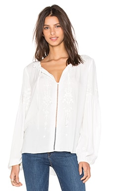 Parker Persimmon Blouse in White