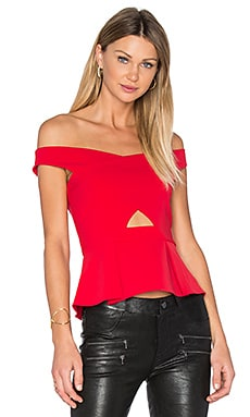 Davina Top in Poinsettia