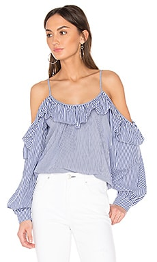 Maureen Combo Blouse in Powder Blue