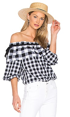 Jenay Blouse in Checkered