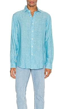 Linen Chambray Long Sleeve Button Up Shirt Polo Ralph Lauren $104