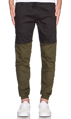 Publish Two-Tone Jogger in Black Olive