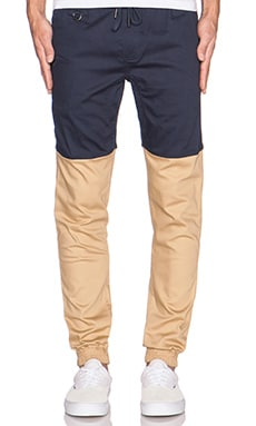 Publish Two-Tone Jogger in Navy Khaki