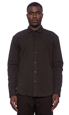 Publish Athill Down Fill Button Down in Black