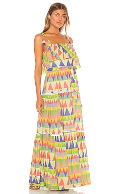 Le Camus Mosaic Tiered Sun Dress Place Nationale $368