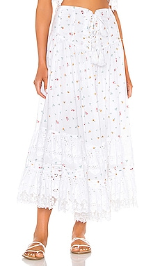 L'Etage Floral Print Tiered Maxi Skirt Place Nationale $357 NEW ARRIVAL