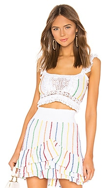 X REVOLVE La Garoupe Pintuck Crop Top Place Nationale $191