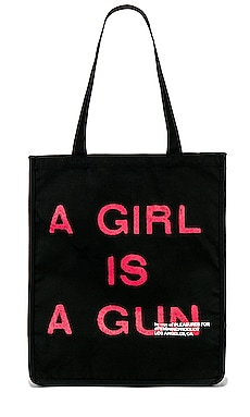 A Girl Is A Gun Tote Bag Pleasures $30