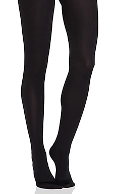 Full Foot Fleece Lined Tights in Black