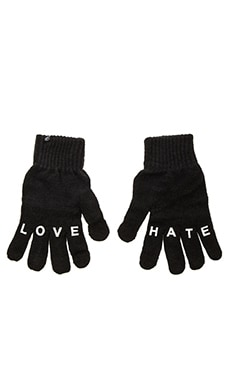 Plush Love/Hate Smartphone Glove in Black