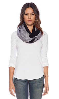 Plush Fleece-Lined Infinity Scarf in Heather Grey