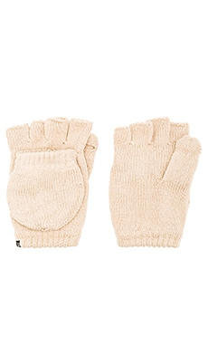Fleece Lined Texting Mittens in Tan