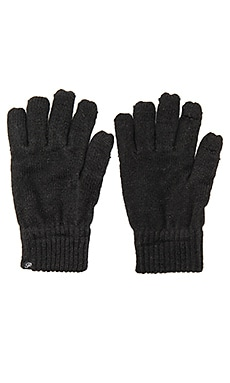 Plush Fleece Lined Metallic Smartphone Gloves in Black