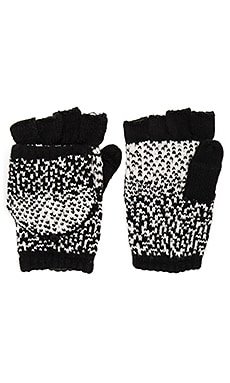 Ombre Dot Texting Mittens en Black & White