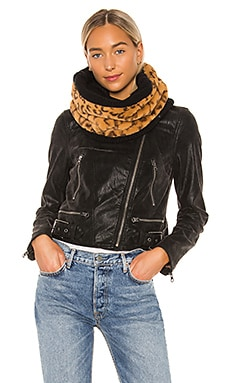 Reversible Cheetah Neckwarmer Plush $40