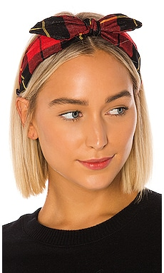 Plaid Headband with Bow Plush $26