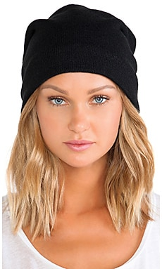 Barca Slouchy Hat w/ Fleece Lining in Black