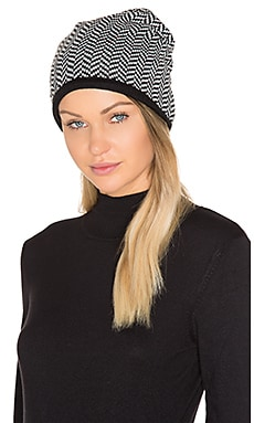 Herringbone Beanie in Black