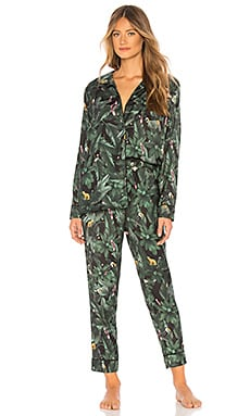PYJAMA SILKY JUNGLE PRINT Plush $136 BEST SELLER