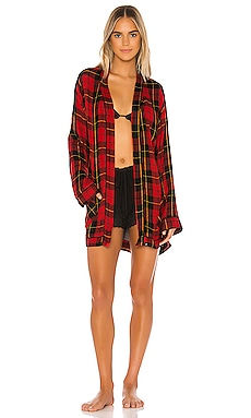 Ultra Soft Plaid Pajama Robe Plush $119