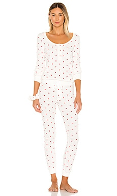 Thermal Heart PJ & Scrunchie Set Plush $130