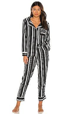 Silky Stripe PJ Set Plush $92
