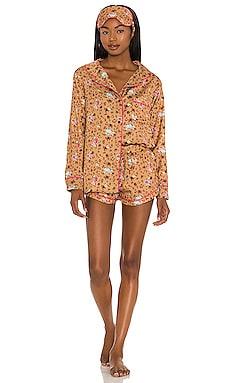 Silky Floral Cheetah PJ Set Plush $101