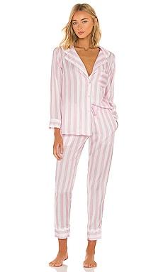 X REVOLVE Long Sleeve Top and Pant Pajama Set Plush $161 NEW